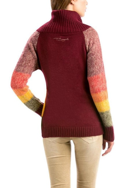 Desigual Cardigan Design Multi-color Warm Sweater Image 1