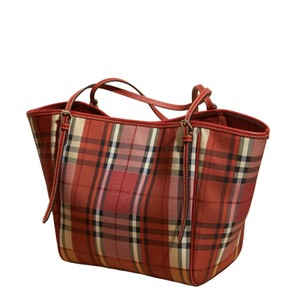 Burberry Shoulder Tote in Red