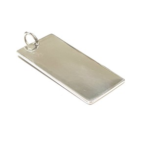 Tiffany & Co. Tiffany & Co. Sterling Silver Engravable Rectangle Charm