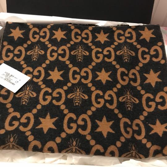 Gucci Bees and stars GG jacquard scarf Image 1