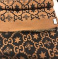Gucci Bees and stars GG jacquard scarf Image 6