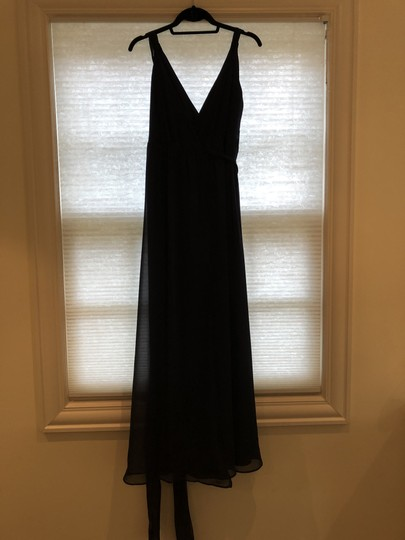 Joanna August Tangled Up In Blue Chiffon Cindy Long Traditional Bridesmaid/Mob Dress Size 4 (S) Image 1