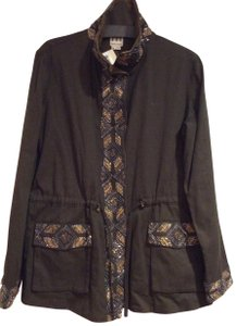 Haute Hippie Beaded Suade Drawstring Withtags Trench Coat