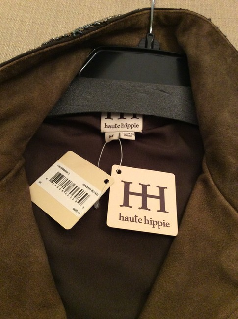 Haute Hippie Beaded Suade Drawstring Withtags Trench Coat Image 3