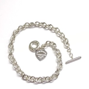 """Tiffany & Co. GORGEOUS!!! Tiffany & Co. Return to Tiffany Heart Toggle Necklace Sterling Silver 16.25"""" 100% Authentic Guaranteed!!! Comes with Tiffany Pouch!!"""