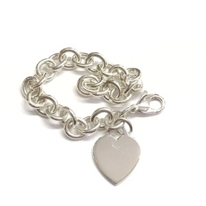 "Tiffany & Co. GORGEOUS!!! Tiffany & Co. Heart Tag Bracelet Sterling Silver 7.5"" 100% Authentic Guaranteed!!! Comes with Tiffany Pouch!!"