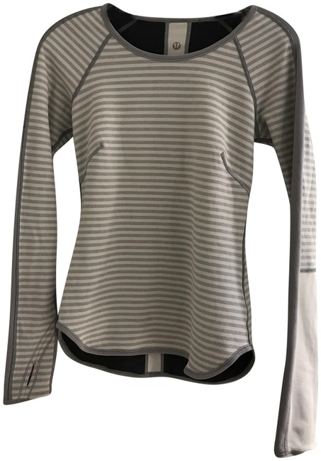 Item - Cream/Light Grey/Charcoal Grey Reversible Activewear Top Size 4 (S)
