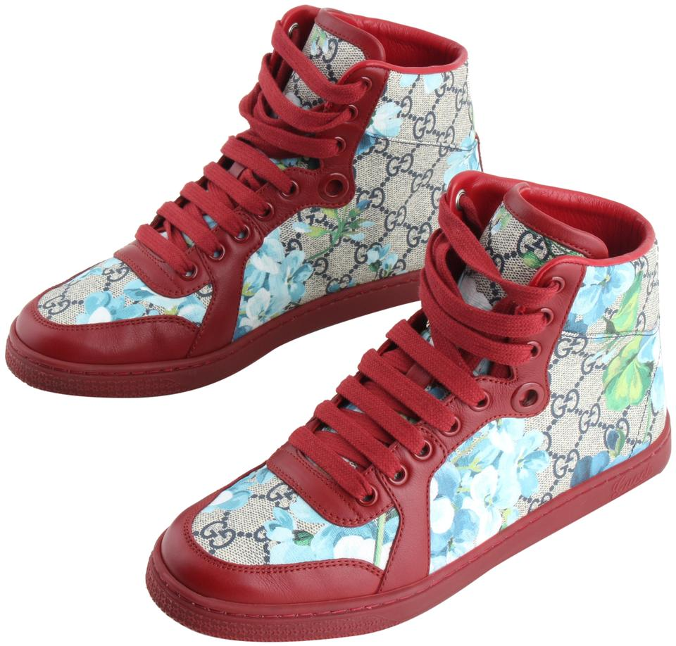 b07b30f5b33 Gucci Multicolor Gg Supreme Blooms High-top Sneakers Sneakers Size ...