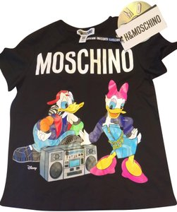 MOSCHINO [tv] H&M Sale Daffy Duck Mtv T Shirt Black