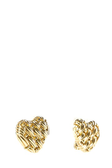 Tiffany & Co. Tiffany & Co.18K Yellow Gold Woven Heart Earrings Image 1