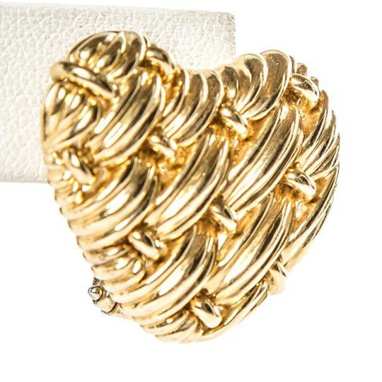 Tiffany & Co. Tiffany & Co.18K Yellow Gold Woven Heart Earrings Image 2