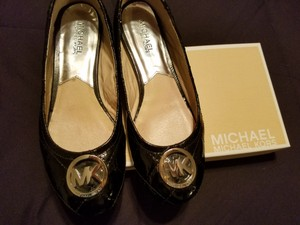 Michael Kors Patent Quilted Black Flats