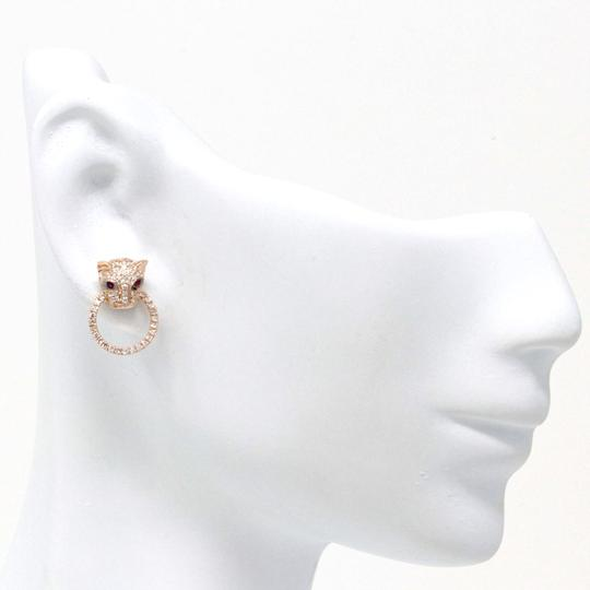 stacytalan 14k Rose Gold Pavé Leopard Earrings (0.49 ct) Image 1