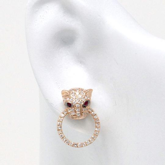 stacytalan 14k Rose Gold Pavé Leopard Earrings (0.49 ct) Image 2