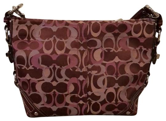 Preload https://img-static.tradesy.com/item/24373843/coach-carly-monogrammed-bordeaux-canvas-and-patent-leather-hobo-bag-0-1-540-540.jpg