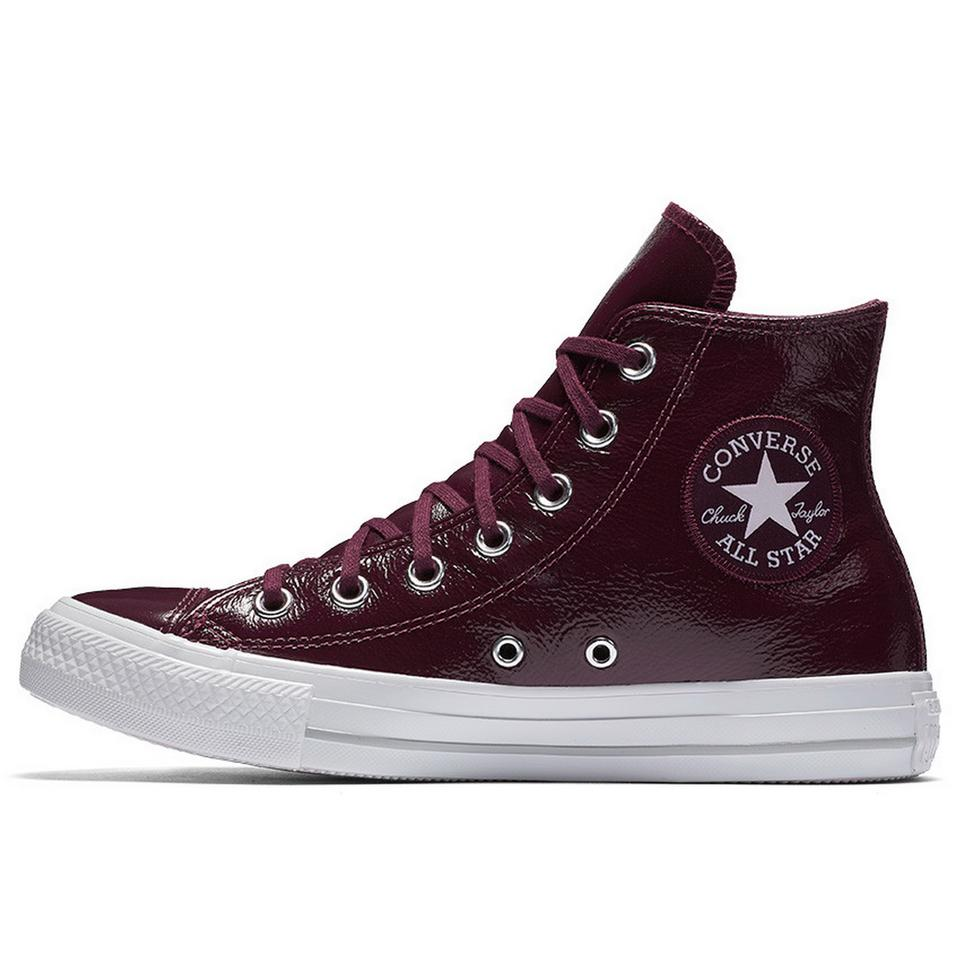 f15c5bde097b Converse Dark Sangria Patent Leather Chuck Taylor All Star High Top ...