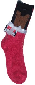 Ashko Group Set of 2 Christmas Plush Socks - Size 9-11
