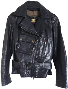 Belstaff Gold Label Leather Biker/Moto Motorcycle Jacket