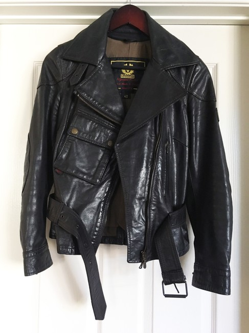 Belstaff Gold Label Leather Biker/Moto Motorcycle Jacket Image 1