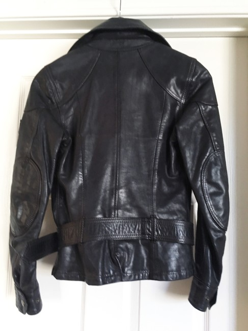 Belstaff Gold Label Leather Biker/Moto Motorcycle Jacket Image 2