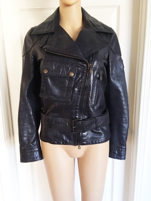 Belstaff Gold Label Leather Biker/Moto Motorcycle Jacket Image 3