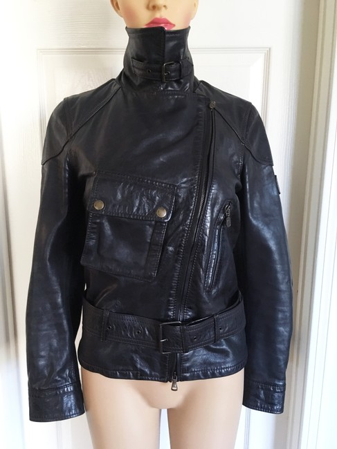 Belstaff Gold Label Leather Biker/Moto Motorcycle Jacket Image 4