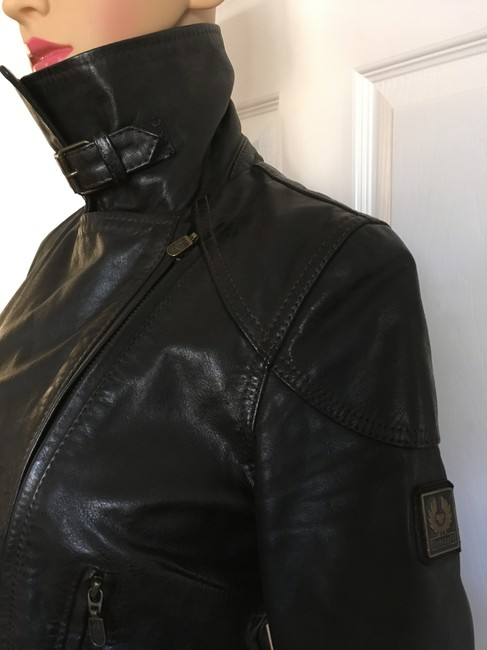 Belstaff Gold Label Leather Biker/Moto Motorcycle Jacket Image 6