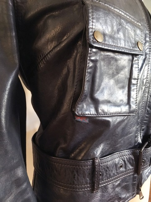 Belstaff Gold Label Leather Biker/Moto Motorcycle Jacket Image 7