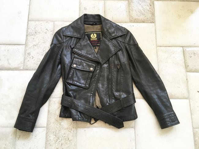 Belstaff Gold Label Leather Biker/Moto Motorcycle Jacket Image 8