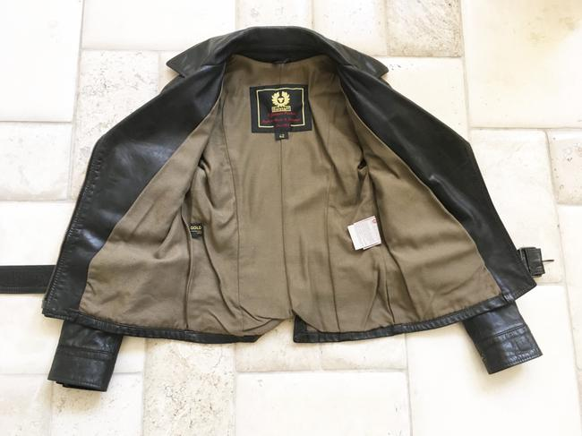 Belstaff Gold Label Leather Biker/Moto Motorcycle Jacket Image 9