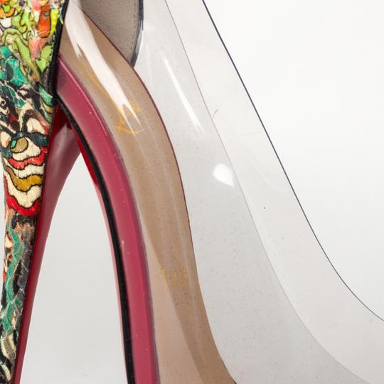 Christian Louboutin Stiletto Red Bottoms Multicolored Pumps Image 5