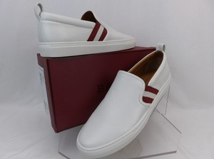 Bally White Herald Leather Web Stripe Logo Sneakers Loafers 8.5 Us 41.5 Shoes