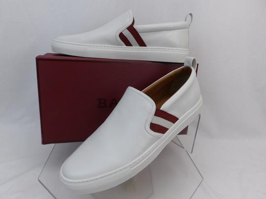 Bally White Herald Leather Web Stripe Logo Sneakers Loafers 8.5 Us 41.5 Shoes Image 1