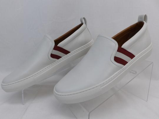 Bally White Herald Leather Web Stripe Logo Sneakers Loafers 8.5 Us 41.5 Shoes Image 3
