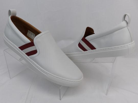 Bally White Herald Leather Web Stripe Logo Sneakers Loafers 8.5 Us 41.5 Shoes Image 4