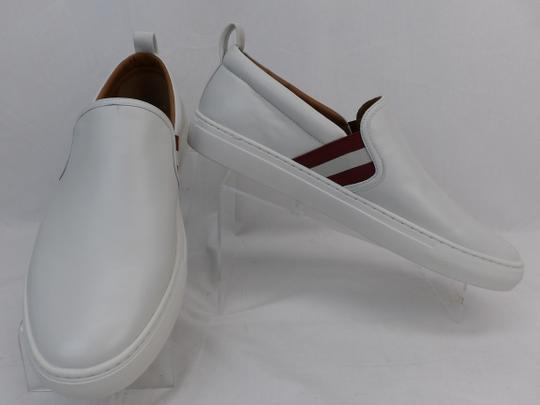 Bally White Herald Leather Web Stripe Logo Sneakers Loafers 8.5 Us 41.5 Shoes Image 5