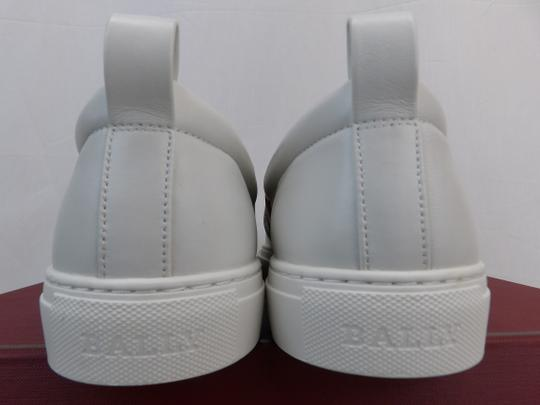 Bally White Herald Leather Web Stripe Logo Sneakers Loafers 8.5 Us 41.5 Shoes Image 6