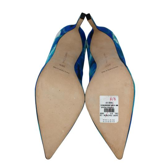 Manolo Blahnik Tie Dye Stiletto Pointed Toe Blue Pumps Image 5