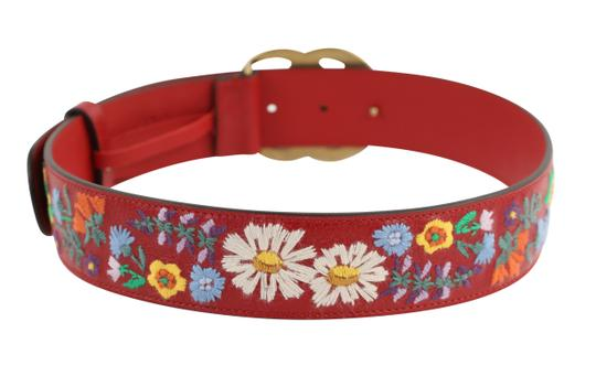 Gucci GG Marmont Flower Embroidered Calfskin Leather Image 3