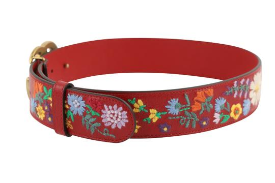 Gucci GG Marmont Flower Embroidered Calfskin Leather Image 4