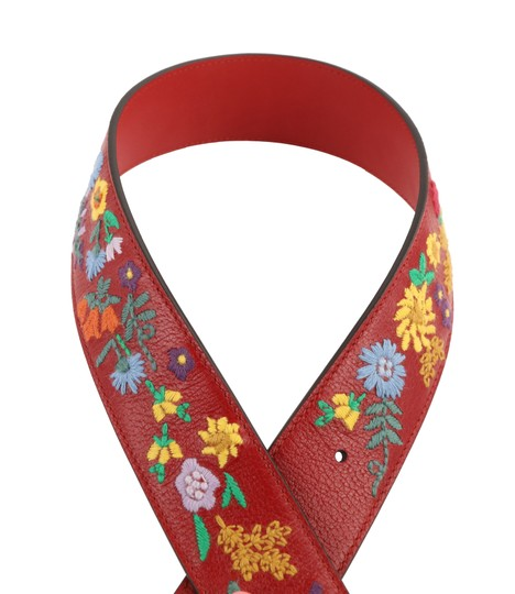 Gucci GG Marmont Flower Embroidered Calfskin Leather Image 5