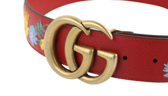 Gucci GG Marmont Flower Embroidered Calfskin Leather Image 6