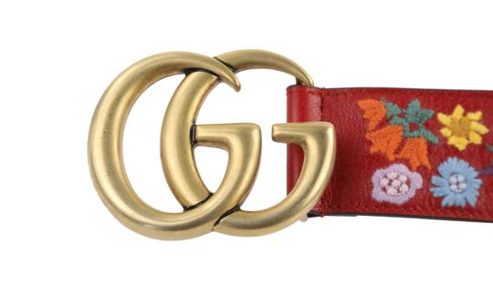 Gucci GG Marmont Flower Embroidered Calfskin Leather Image 7