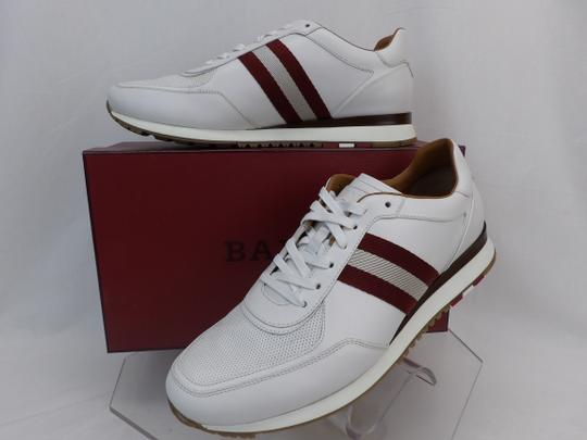 Bally White Aston Leather Mesh Web Stripe Logo Swiss Sneakers 7 Us 40 Shoes Image 2