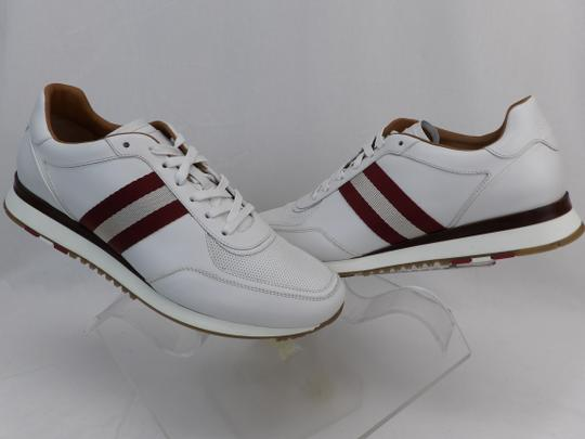Bally White Aston Leather Mesh Web Stripe Logo Swiss Sneakers 7 Us 40 Shoes Image 5