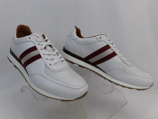 Bally White Aston Leather Mesh Web Stripe Logo Swiss Sneakers 7 Us 40 Shoes Image 6