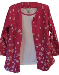 Talbots Twin Set Flower Buttons 2 Pieces Sweater