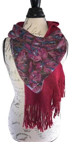 Preload https://img-static.tradesy.com/item/24373996/mauve-wine-blue-brown-floral-sheer-knit-fringe-ends-lot-of-set-scarfwrap-0-1-540-540.jpg
