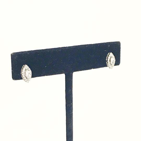 Roberto Coin BEAUTIFUL!!! Roberto Coin Marquise Diamond Halo Stud Earrings 18 Karat White Gold Prong-Set Marquise Diamond Image 2