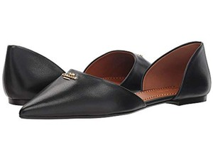 Coach Pointed Leather Black Flats